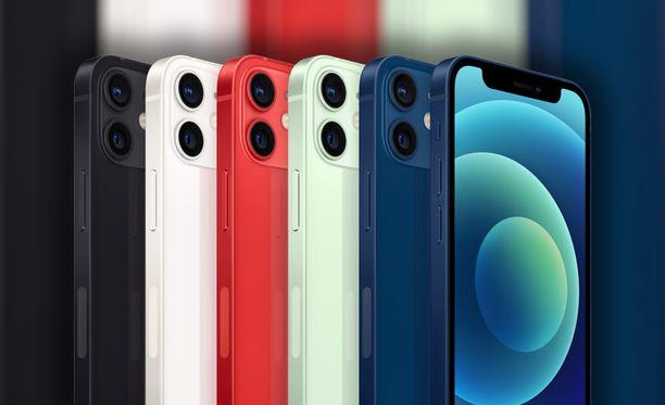 Iphone 12 Mini kestää koviakin kolhuja.