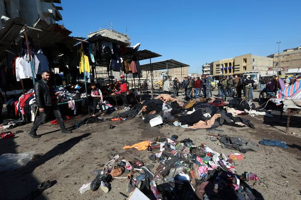 Bagdadin Tayaran-aukiolla tapahtui itsemurhaisku.