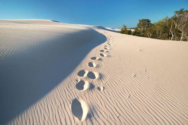Leban kauniita hiekkadyynejä.
