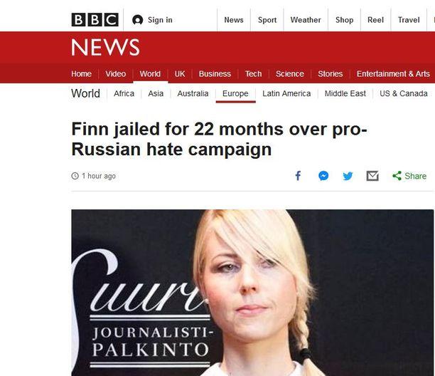 Ilja Janitskinin saama vankeustuomio nousi BBC:n etusivulle.
