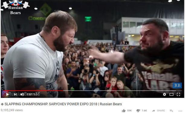 Venäjän Sarychev Power Expo -messuilla kisailtiin brutaalissa lajissa.