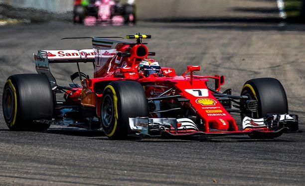 Kimi Räikkösen ensimmäinen stintti Italian GP:ssä oli vaikea.