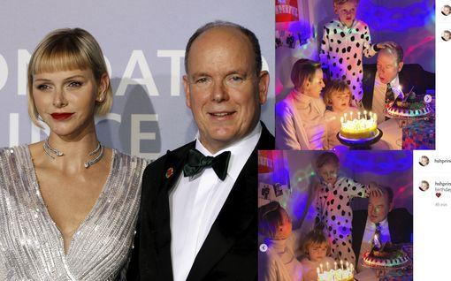 Ei mikään tyypillisin syntymäpäiväkuva – Monacon tuleva ruhtinas juhli syntymäpäiväänsä perheen kesken, käsi hellästi isänsä otsalla