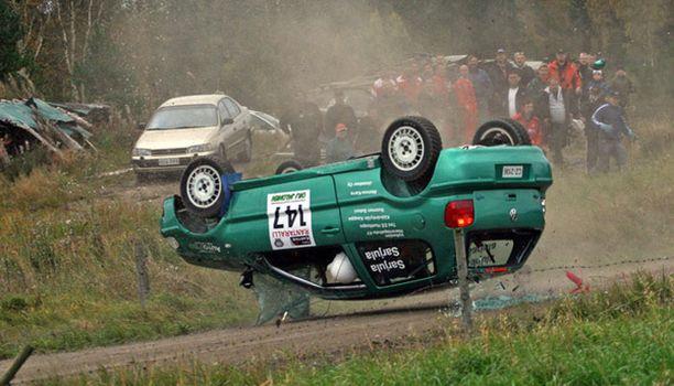 Sami Sarjula ajoi rajusti ulos myös syyskuussa 2008.