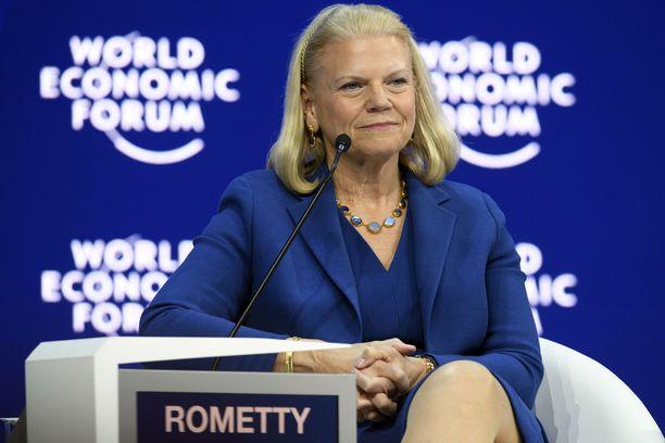 Yhdysvaltalaisen IBM:n toimitusjohtaja Ginni Rometty on yksi harvoista naisista amerikkalaisyritysten johdossa.