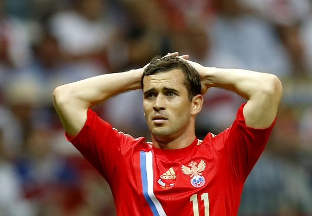 Igor Denisov toimi Venäjän maajoukkueen kapteenina.