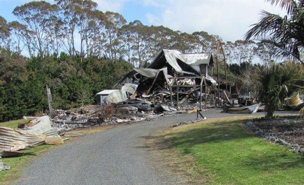 Chris Robinsonin täysin tuhoutunut luksustalo oli arvoltaan useita miljoonia.