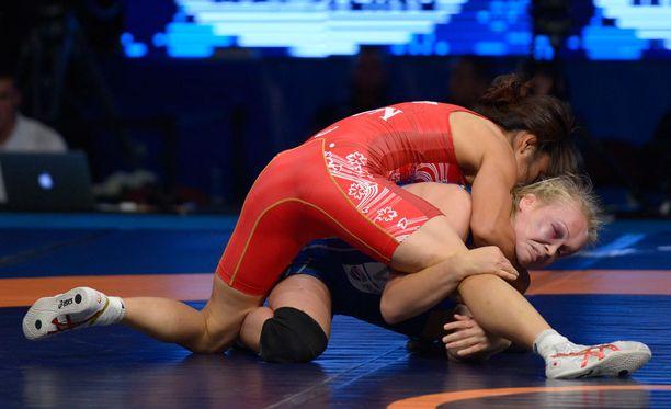 Kymmenkertainen maailmanmestari Kaori Icho voitti viime vuonna Petra Ollin Las Vegasin MM-finaalissa 10–0.