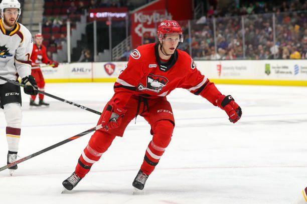 Eetu Luostarinen on aloittanut vahvasti Charlotte Checkersissä. Se poiki NHL-kutsun.