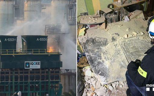 Kemikaalitehtaan räjähdys Espanjassa tappoi miehen kilometrien päässä naapurikaupungissa