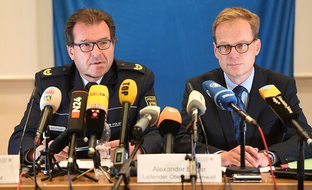 Poliisi järjesti lauantaina Konstanzissa tiedotustilaisuuden myrkyttäjän kiinniotosta.
