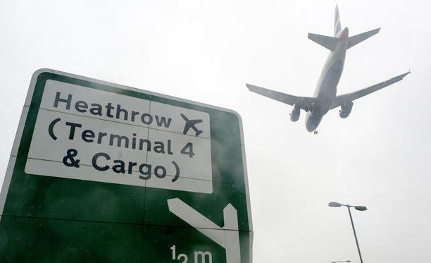 Heathrow'n lentokenttä oli hetken täysin poissa pelistä.
