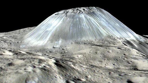 Ceres-asteroidin pinnalta löytyi outo vuori.