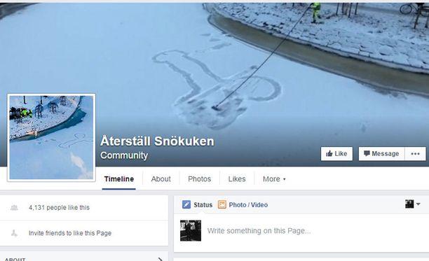 Lumipenis on kerännyt Facebookissa jo tuhansia kannattajia.