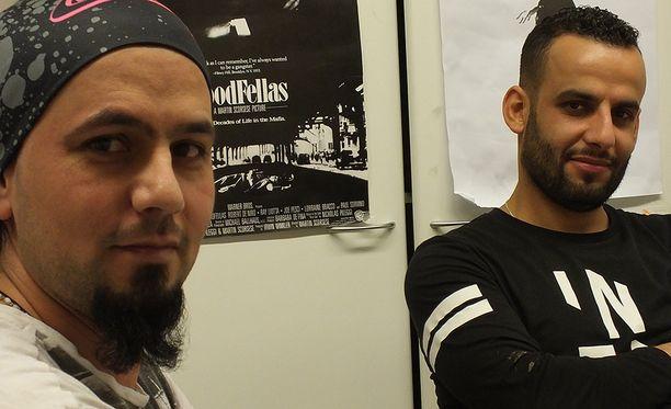 Bagdadista Tampereelle matkustaneet Ali (vasemmalla) ja Ashraf eivät aio lähteä, vaikka kielteinen turvapaikkapäätös saisi lainvoiman. Ali on poliisi ja Ashraf historian opettaja.