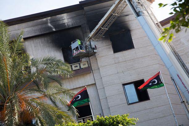 Libyan ulkoministeriö hyökkäyksen jälkeen 25.12.2018.