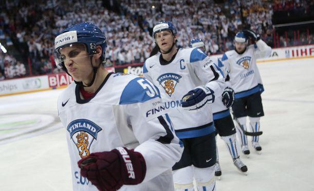 Valtteri Filppula ja Mikko Koivu pelasivat vuoden 2012 MM-kotikisoissa.