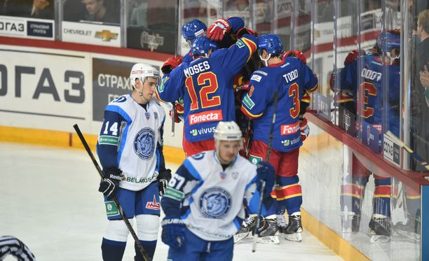 Jokerit kohtaa Dinamo Minskin.
