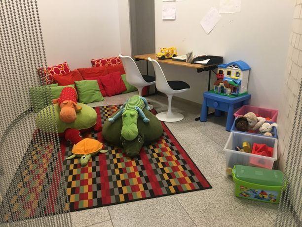 Lasten leikkihuoneella on käyttöä varsinkin lomien aikaan ja viikonloppuisin.