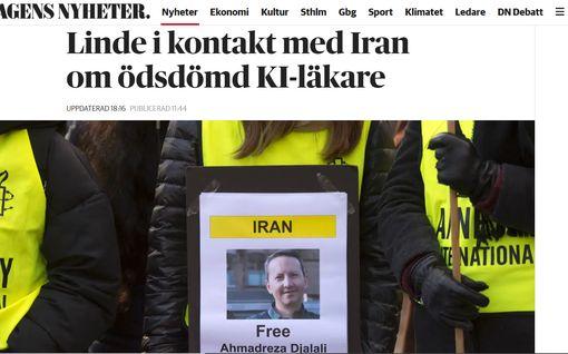 """DN: Iran aikoo teloittaa ruotsalaisen lääkärin – """"Hän sanoi, ettei voi soittaa enää"""""""