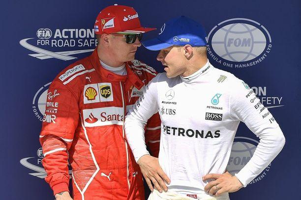 Kimi Räikkönen ja Valtteri Bottas ovat jääneet selvästi jälkeen tallitovereistaan.