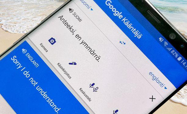 Googlen Kääntäjä on kätevä apu ulkomailla.