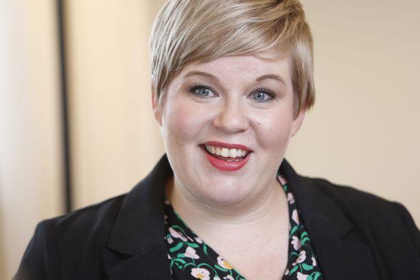 Keskustan puheenjohtaja, valtiovarainministeri Annika Saarikko.