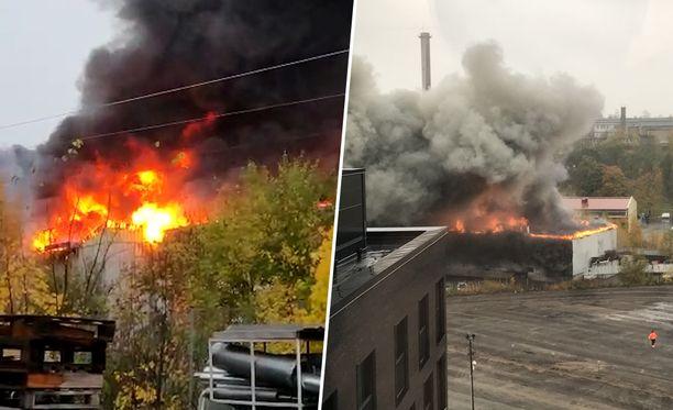 Rakennuksesta irtaimistoineen on palanut n. 4000 neliötä.