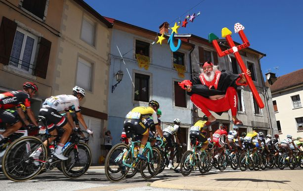 Didi 'The Devil' Senft otti roolia Tour de Francen 16:nnella etapilla.