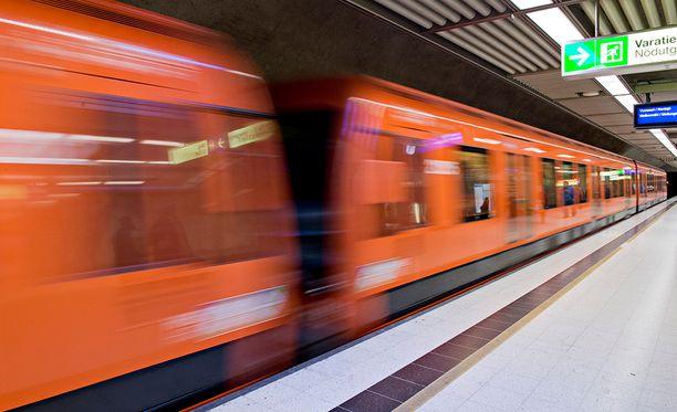 Arkistokuva metrosta.