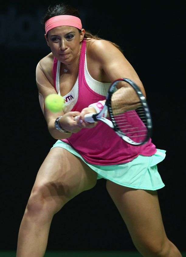 Marion Bartoli peliurallaan.