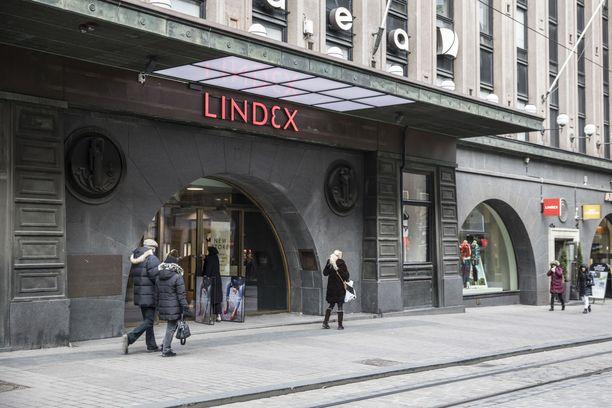 Lindexin myymälä Helsingin Aleksanterinkadulla.