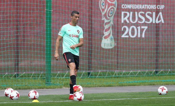 Cristiano Ronaldo on parhaillaan Venäjällä Portugalin maajoukkueen kanssa.