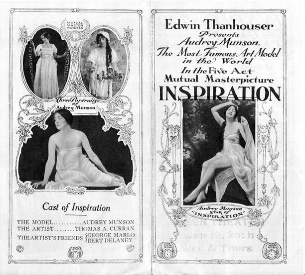 """""""Maailman kuuluisin malli"""". 1910-luvulla Audrey Munson oli supertähti."""