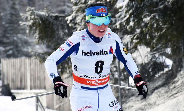 Krista Pärmäkoski sijoittui parhaana suomalaisena neljänneksi Lenzerheiden 10 kilometrin takaa-ajossa.