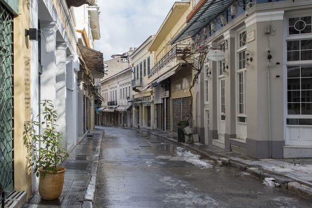 Ateenassa on voimassa ilta- ja yöajan ulkonaliikkumiskielto.