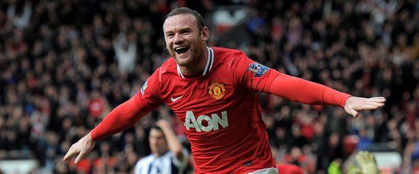 Wayne Rooneyn maaliennätys on 34 kaudelta 2009-10.
