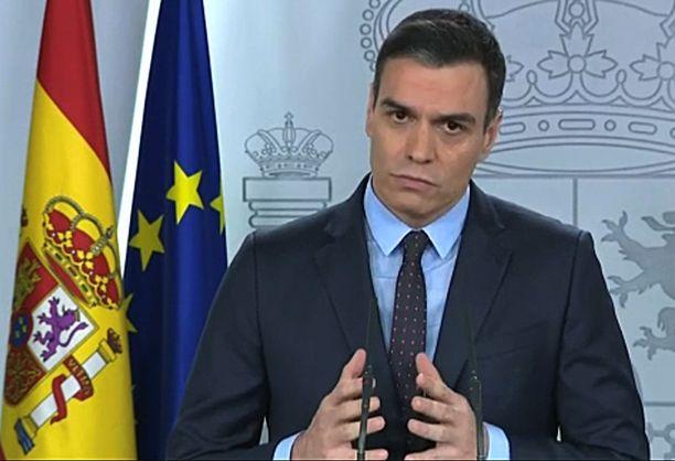 Espanjan pääministeri Pedro Sanchez piti lauantaina illalla televisiossa puheen, jossa varoitti kansalaisia siitä, että pahin on vasta tulossa.