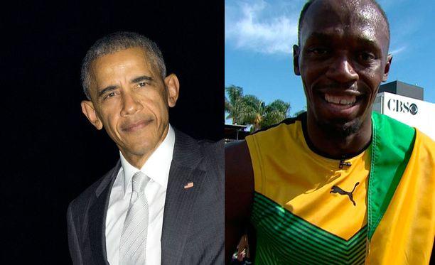 Barack Obama kuittaili Usain Boltille vaalipuheessaan.
