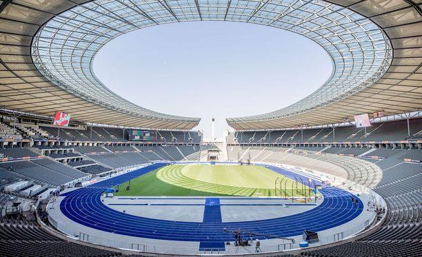 EM-kisojen näyttämönä toimii Berliinin olympiastadion.