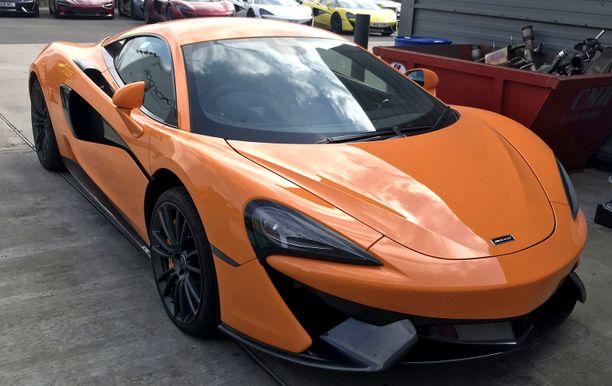 McLaren 570S:n moottori on 3,8-litrainen V8.