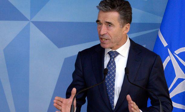 Naton pääsihteeri Anders Fogh Rasmussen tuomitsi Venäjän toimet Krimin liittämiseksi Venäjään.