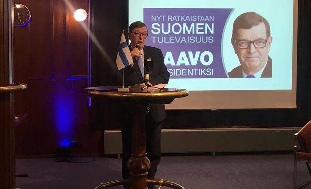 Paavo Väyrynen avasi vaalikampanjansa Scandic Hotel Marinassa Helsingin Katajanokalla.