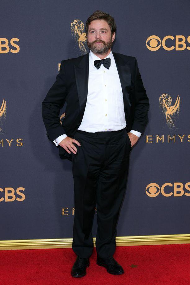 Tältä Zach Galifianakis näytti Emmy-gaalassa tällä viikolla.