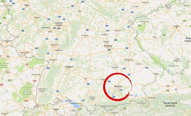 Hyökkäys tapahtui Münchenin Rosenheimer Platzilla.