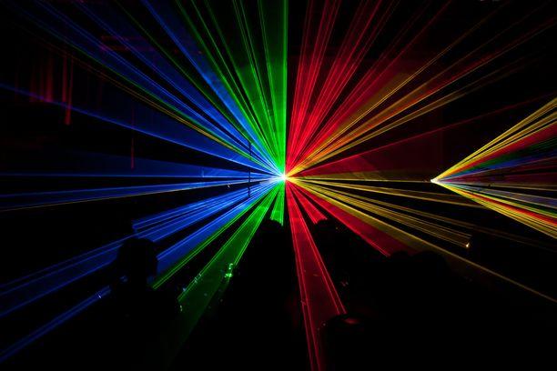 Kuvituskuva. Lasershow Berliinissä vuonna 2014.