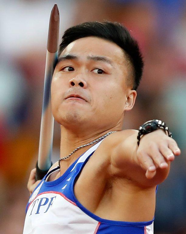 Chao-Tsun Cheng heitti päälle 91 metriä tuuliapujen myötä.