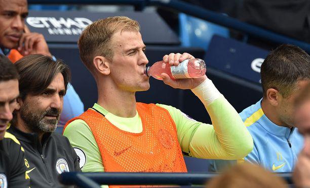 Joe Hart on jumittunut Manchester Cityn vaihtopenkille.