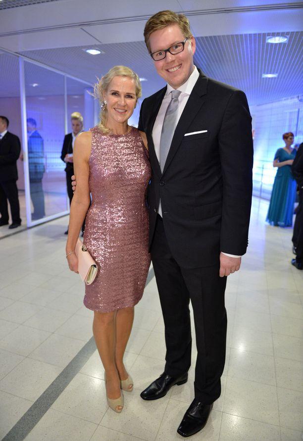 Kaija Storbom ja Antti Lindtman ovat edustava pari.