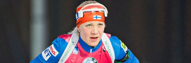 Kaisa Mäkäräinen nappasi Kontiolahdella normaalikisan MM-pronssia.